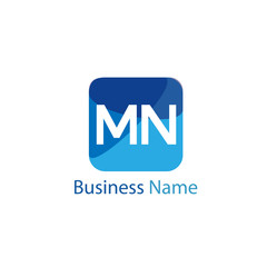 Initial Letter MN Logo Template Design