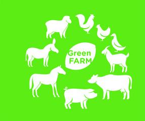 animal farm logo icon designs vector
