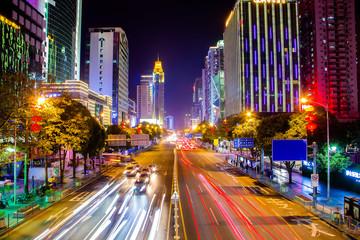 Urban Nightscape Traffic in Shenzhen