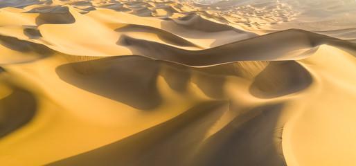 Foto auf Acrylglas Wuste Sandig golden sand dunes panorama