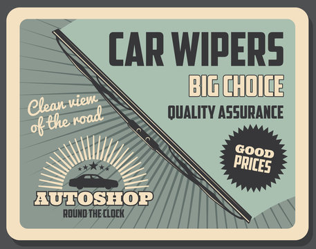 Windshield or car wipers rubber blade