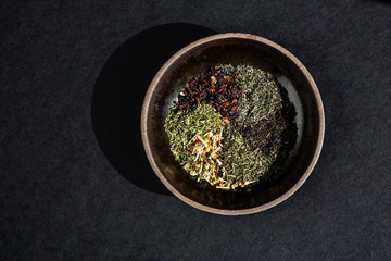 Bowl of various spices