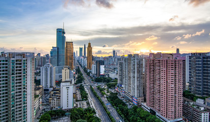 Shenzhen Luohu City Landscape