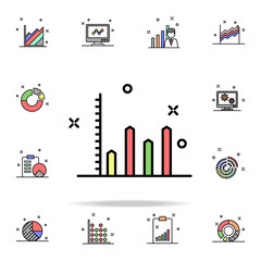 diagram colored icon. Business charts icons universal set for web and mobile
