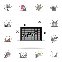 cell diagram colored icon. Business charts icons universal set for web and mobile