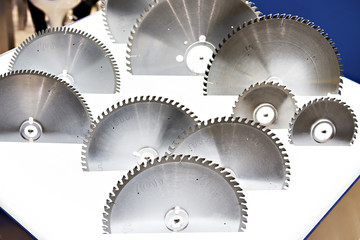 Circular saw machine blades for wood in store