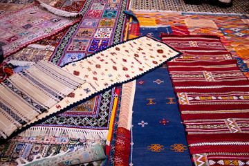Moroccan Silk Rugs at a Rug Store