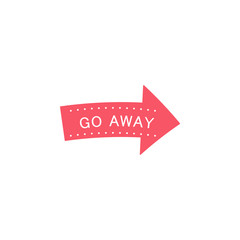 Go away, direction sticker icon. Element of photo stickers icon for mobile concept and web apps. Sticker Go away, direction icon can be used for web and mobile