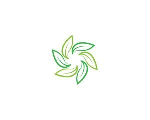 Green leaf symbol illustration