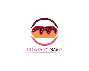 Donuts logo vector template illustration