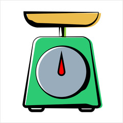 Kitchen Weight Scale Icon