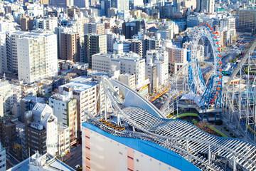Cityscape around Korakuen amusement park
