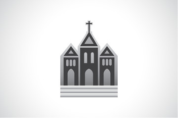 Church building logo vector