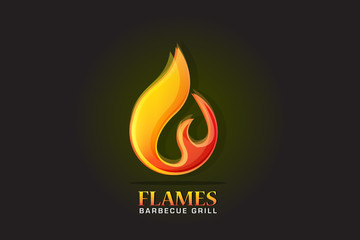 Logo fire flames vector