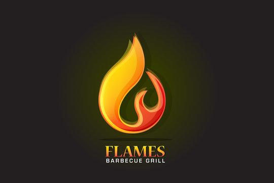 Logo fire flames vector