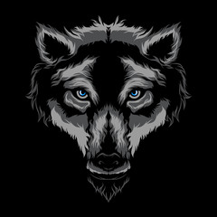 Wolf vector illustration art