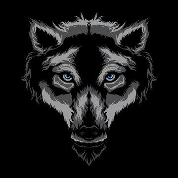 Wolf vector illustration art