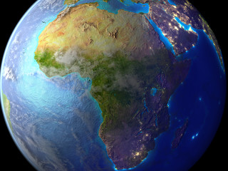 Africa on Earth as seen from space.