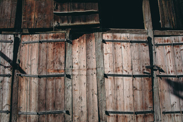 Wooden gates and doors - background image
