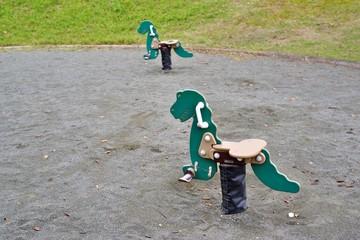 公園の動物の遊具