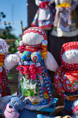 Image of a traditional Slavic doll. Handmade.