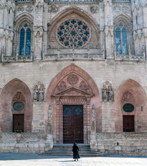 Gothic cathedral of Burgos in Spain