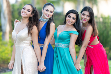 Group Of Girls Going To Prom