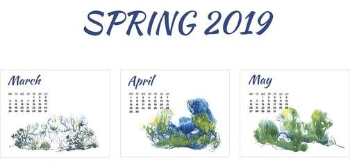 calendar 2019 spring, nature
