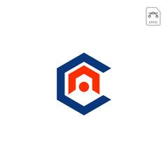initial AC, CA, A, C Logo template