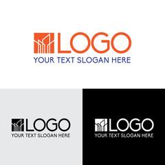 Building simple line modern logo