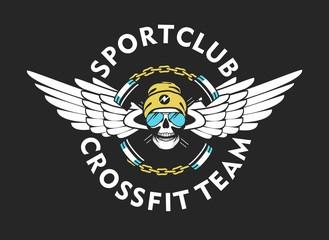 crossfit sports emblem