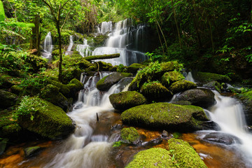 Printed roller blinds Waterfalls Smooth falling water