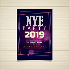 new year 2019 poster