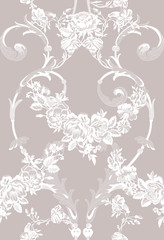 floral lace seamless pattern