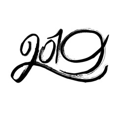 2019 grunge black lettering