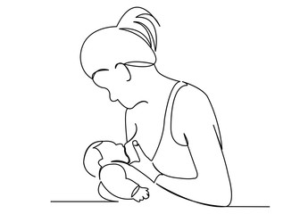 woman breastfeeds newborn