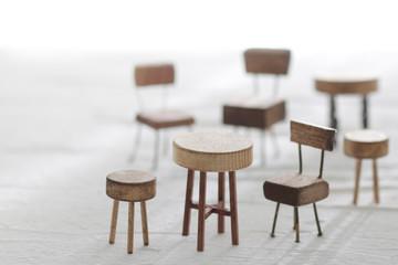 DIYミニチュア椅子