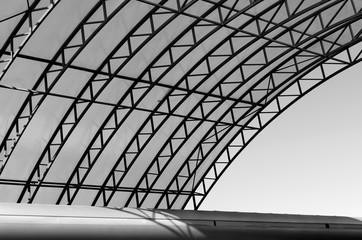 Part of modern building. Urban geometry