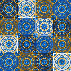 Moroccan ceramic tile seamless pattern.