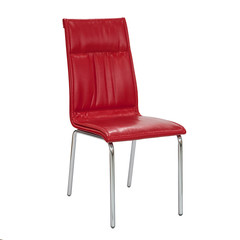 red chair on white background