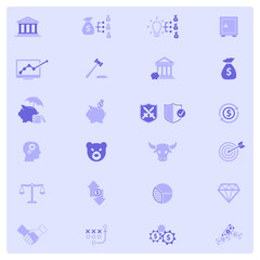 Financial investment icon set