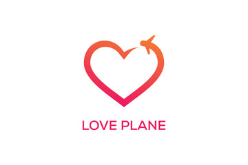 LOVE PLANE LOGO DESIGN