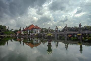 Garden Poster Temple Taman Ujung Water Park