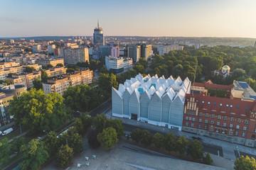Philharmonic in Szczecin aerial view