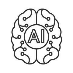 Artificial intelligence linear icon