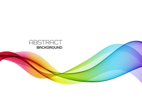 Abstract colorful vector background, color flow wave for design brochure, website, flyer.
