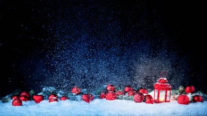 Weihnachtshintergrund mit Laterne