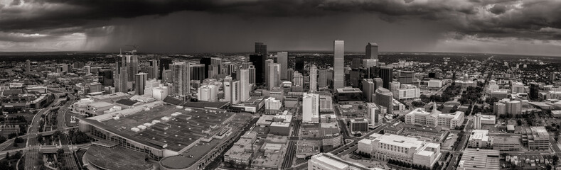 A storm cell approaches downtown Denver.