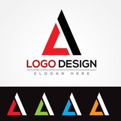 LA Letter Logo design