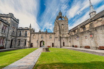Aberdeen University King's College building. This is the oldest university in Aberdeen. Wall mural
